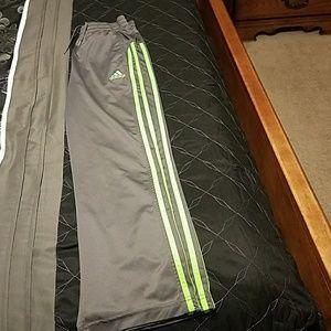 Boys size 10-12 Adidas track pants gray